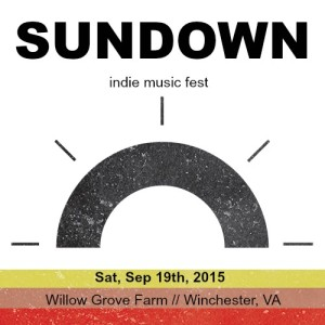 Sundown- indie music fest. Winchester, Va. Sep 19, 2015